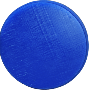 98mm Millable Blue Wax Disc